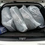 Колеса упакованы и уложены в багажник